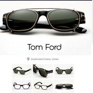 Tom Ford optical with clip on sunglasses